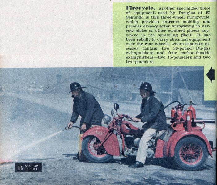 motobombero, moto, bombero