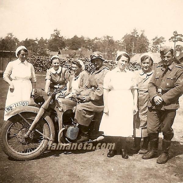 militares, militar, paradas, enfermeras, sidecar, Alemania,