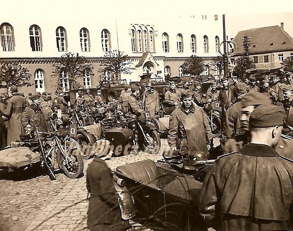militares, militar, Alemania, sidecar, parada, motos
