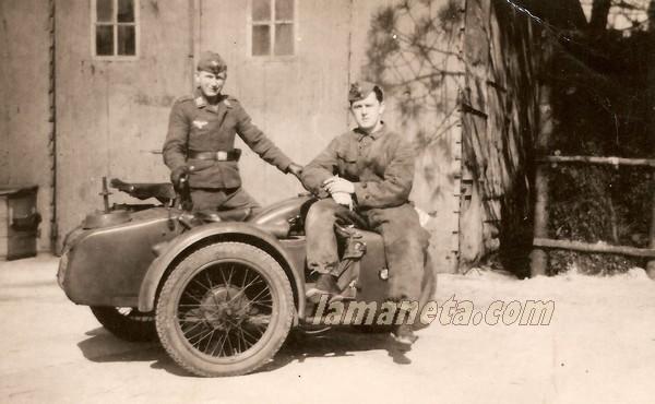 militares, militar, Alemania, sidecar, moto