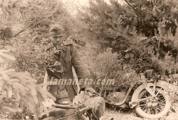 militares, militar, Alemania, camufladas, arboles, bosque, motos