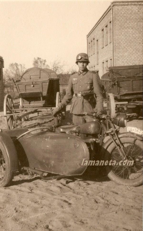 militares, militar, Alemania, sidecar, carro, moto