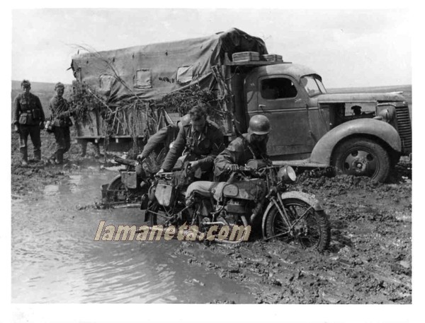 militares, militar, Alemania, barro, paradas, motos, camion